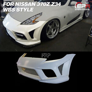 WBS Style FRP Unpainted Front Bumper Body Kits For 2009+ Nissan 370Z Z34