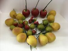 27 Artificial Fruit Pears, Apples Decorative Accent Centerpiece for Home Decor