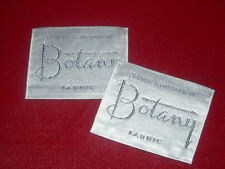 "2 - Silver Botany Fabric - Sew In Clothing Label - New / Old Stock 1¾"" x 2"""