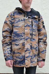 BNWT Quicksilver Men's Mission Printed Jacket, Ski Snowboard Outdoor, RRP £169