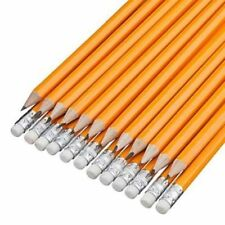 15 HB Pencil Pencils With White Eraser Rubber Tip Long Home School Office 5631