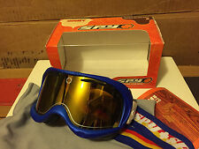 NEW SPY Comet Snow Goggles Azure Blue Frame / Orange Spectra Mirror Lens