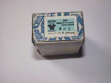"4 X ½"" CHROME PLATED RAISED HEAD STEEL NETTLEFOLDS WOOD SCREWS - MGA - Qty 20"
