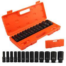 """13 pc 1/2"""" pouces deep impact socket tool set 10-32mm métrique garage atelier"""