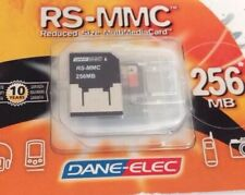 Dane-Elec Memory Card RS-MMC (reduced Size MMC) 256MB New Rare Vintage 2004