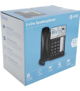 AT&T ML17929 2-Line Corded Office Phone System w/ Caller ID/Call Waiting, Black