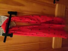 Girls Red Dog Print Long Scarf One Size Vgc
