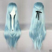 NEW long Sword Art Online Asuna Yuuki Multi-color Cosplay Costume Wig
