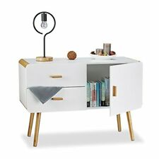 Relaxdays Commode Nordique Scandinave Sideboard Buffet Meuble appoint 2 Tiroi...