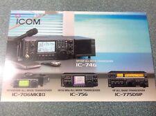 Icom Genuine Q S L. Card marking the birth of the IC706MKk11 / IC-756 / IC-775