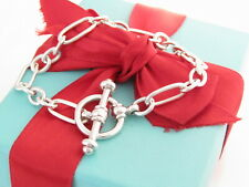 """Tiffany & Co Silver Picasso Groove Link Bracelet 7.5"""""""