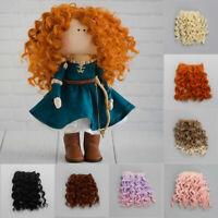 / 3 Accessoires Perruque frisée Perruque en spirale Une perruque Tête de poupée