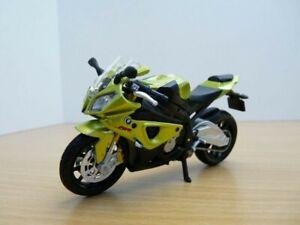 MOTO BMW S1000RR vert métallisé 1/18