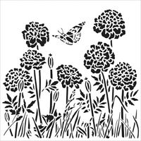 6x6 Happy Dandelions Stencil Crafters Workshop Paper Art Craft Template TCW861s