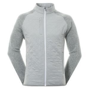Footjoy Men's Fleece Quilted Golf Jacket 95070 Heather Grey