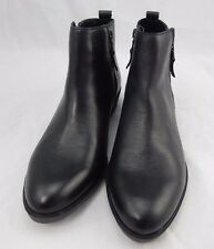 RALPH LAUREN SHIRA Black Leather Booties Short Boots Shoes 7B  $139