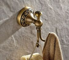 Wall Mounted Antique Brass Art Carved Bathroom Bath Towel Robe Hooks