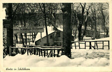 AK Berlin Schildhorn ca. 1942 Erstes Schildhorn-Restaurant Winter Schutzraum