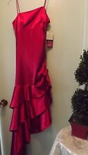 Gorgeous Blondie Nites Red Ruffled Party/Ball Dress, Juniors Sz 9 NWT