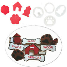 4PCS Plastic Cute Dog Paw Cookie Cutter Mold Cake Biscuit Decor Baking Tools