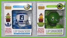 LOT DISNEY TSUM TSUM Lip Smacker STAR WARS YODA JEDI MASTER MINT & R2 D LICIOUS