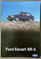 1981 Ford Escort XR3 original Spanish sales brochure