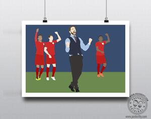 GARETH SOUTHGATE Celebrate Minimalist England Football Poster Minimal Posteritty