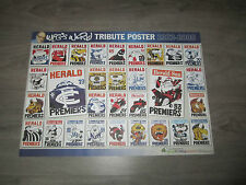 RARE WEG TRIBUTE POSTER SHOWING COLLECTION OF WEGS 1954 1961 ESSENDON RICHMOND