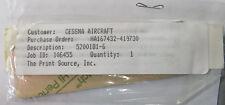 NOS Cessna Part No. 5200181-6 Placard/Decal