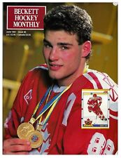 Eric Lindros | FIRST COVER | Beckett Hockey Price Guide Magazine #8 June 1991