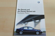 96035) VW Passat + Variant Business Prospekt 10/2002