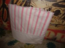 VINTAGE SPRINGMAID COMBED PERCALE PINK & WHITE STRIPE TWIN FLAT SHEET 69 X 99