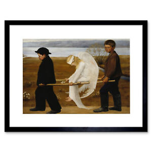 Painting Simberg The Wounded Angel Framed Art Print 12x16 Inch