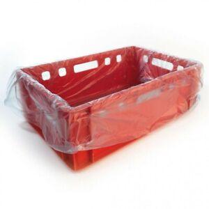 Einlegesack, Auskleidungssack, Fleischkistensack, blau-transparent, für E2-Kiste