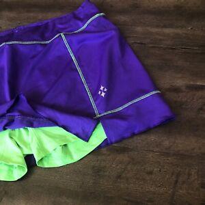 JoFit Golf Tennis SKORT SKIRT Size XXL 2XL Purple Green EUC