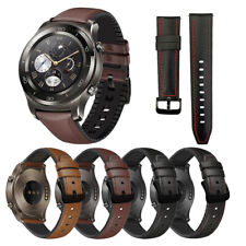 Reloj de Pulsera 22mm genuino cuero reloj banda correa para Samsung Fossil Mk Inteligente