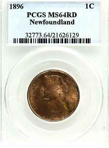 Canada: Newfoundland Victoria 1896 Large Cent, PCGS/ICCS MS-64 Red.