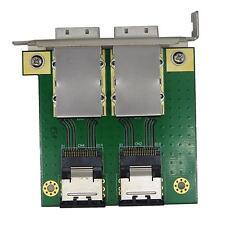 2 port Internal SFF-8087 to External 8088 PCI mini SAS 26P Adapter SAS RAID