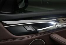 4PCS Stainless Inner Door Handle Decorative Trim Fit For BMW X5 F15 2014- 2015