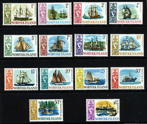NORFOLK ISLAND 1967-68 The Full Ships Set SG 77 to SG 90 MINT
