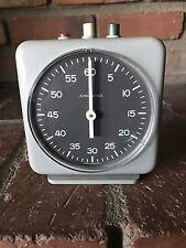 Junghans German Darkroom Photography Analog Timer Gray Clock Works Great VTG