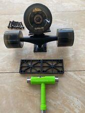 """Longboard Skateboard Trucks 8"""" Wheels 65mm Bearings A-7 Hardware Risers New"""
