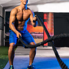 "Fitness 30ft Heavy Battle Rope 1.5"" Poly Dacron Climbing Training Strength"