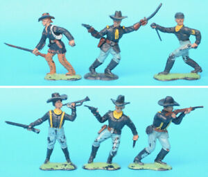 CRESCENT 60mm U.S. Cavalry figures toy soldiers (R)