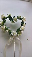 Bridesmaids Fairy Wand Heart Rose Ivory Wedding Flowers Fancy Dress Flower Girl