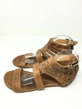 Bed Stu Women's Casual Leather Strappy Comfy Caramel Gladiator Sandals Size 9