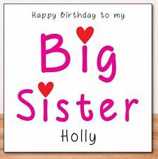 BIG SISTER PERSONALISED BIRTHDAY CARD