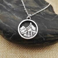 Find Your Road Pine Tree charm Under mountain Camping Jewelry Gift for Women