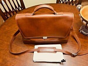 HARTMANN Tan  Belting Leather Briefcase / Messenger Bag - AMERICAN Made