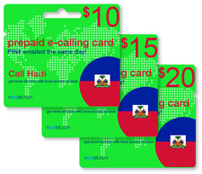 Cheap International calling card for Haiti with emailed PIN